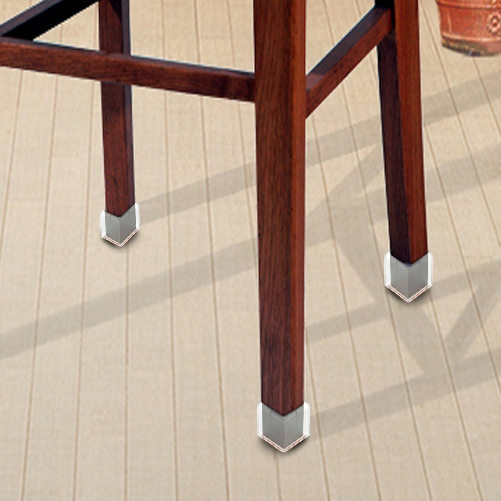 Wish you have a nice day Chair Leg Feet Wood Floor Protectors Set, Felt Furniture Pads Caps Covers, Square 1-1/8 inch to 1-3/8 inch, 16 Pack (16, 3 to 3.5cm) by wish you have a nice day (Image #2)