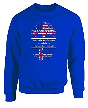 American Grown With Icelander Roots Great Gifts Iceland - Adult Sweatshirt