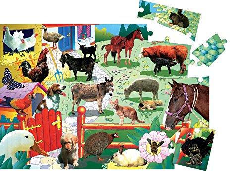 Small World Toys Barnyard Life Floor Puzzle