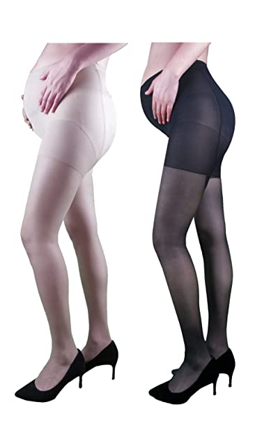 64d1b53f34c Fitliva Non Snag Silk Pantyhose Run Resistant Maternity Tights Sheer Plus  Size Pack of 2