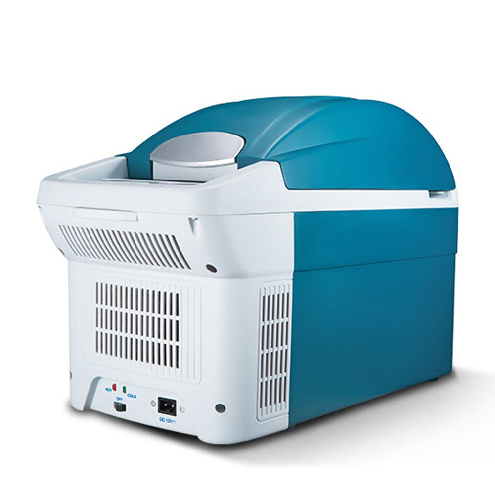 LIQICAI 6L Tragbar Mini Kühlschrank Auto Camping 12V DC (Auto)/230V AC (Zuhause) Tragbarer Tragegurt (Farbe : Hellblau, größe : for Car+Home)