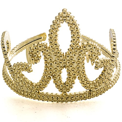 Gold Tiara Crown - Homecoming Queen Crown - Crown and Tiara - Queen Tiara by Funny Party -