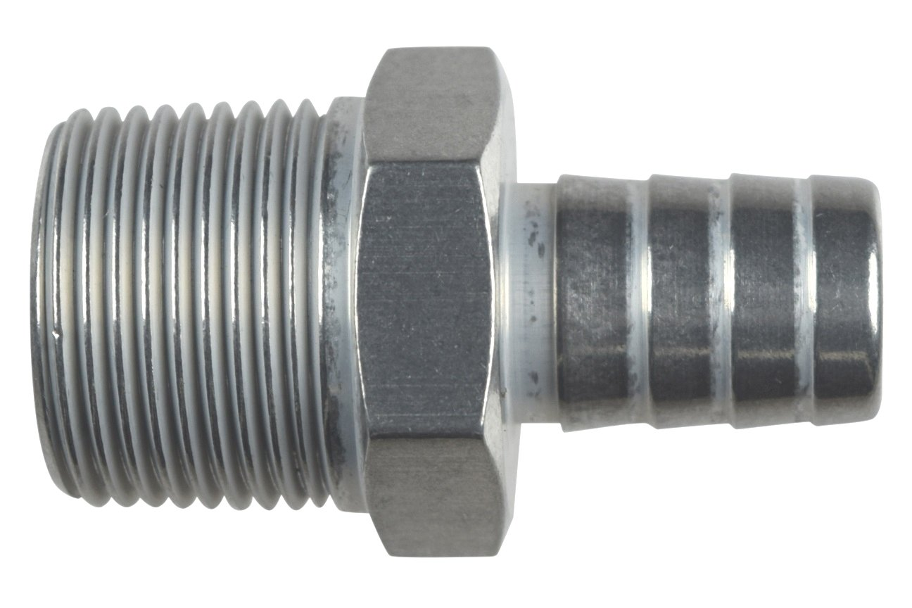 Straight 3//4 NPT Pipe to 5//8 .625 Hose Barb Fitting Bare Aluminum AN840-10-12A