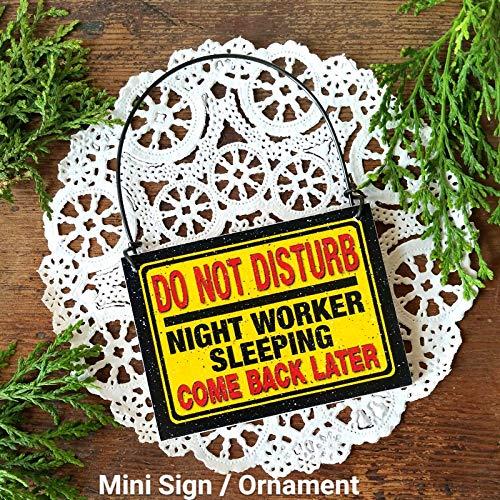 Decorative Sign Mini Do Not Disturb Night Worker Sleeping Tiny Sign for Door knob Night Shift - Mini Shift Knobs