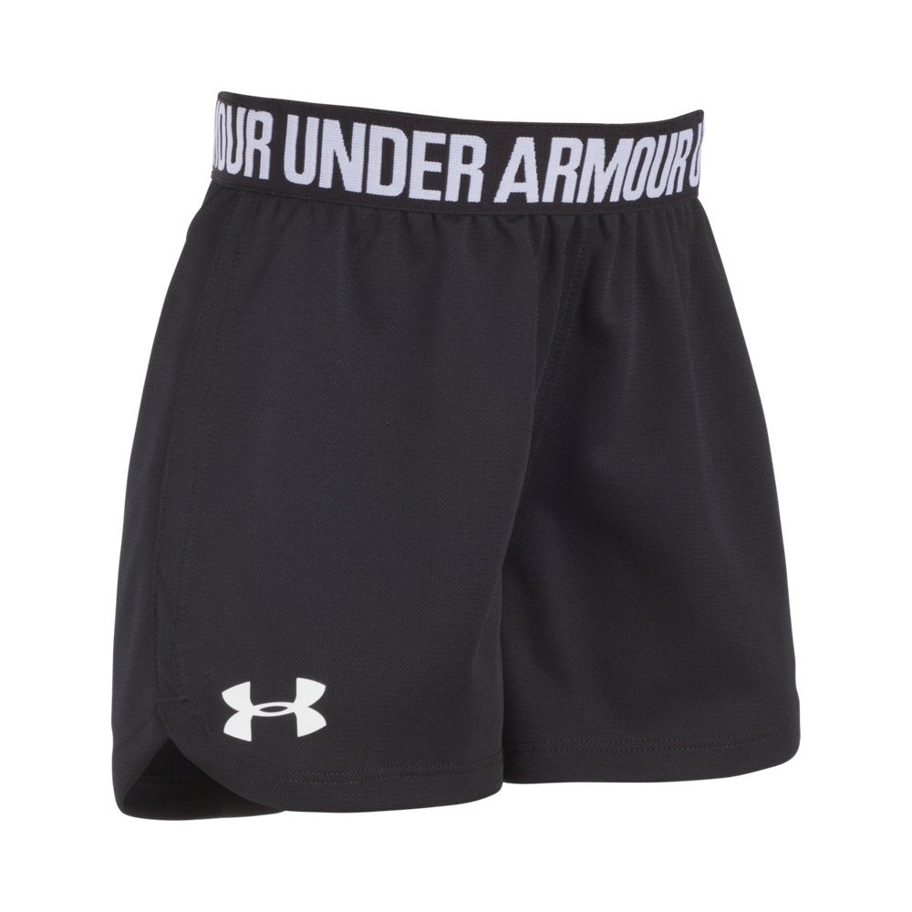 Under Armour Little Girls' Play Up Short,BLACK,4 by Under Armour