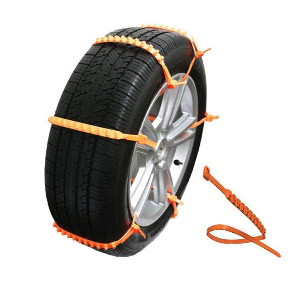 MeiBoAll 10 PCS Protable Emergency Traction Aid Anti-Slip Chain Go Cleated Tire Traction Snow Ice Mud Universal Car SUV Van Truck WC611041-112-1529241