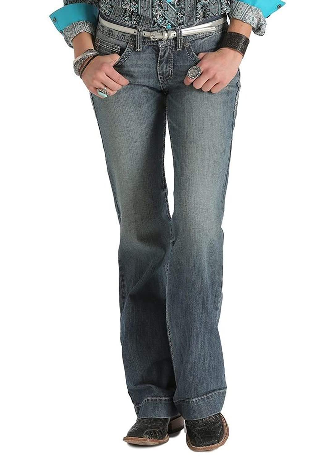 Cruel Girl Western Jeans Womens Jayley Rlx 17 Long Med Wash CB44054001