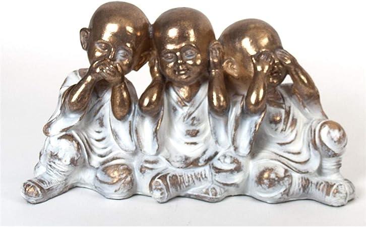 Drw Set Budas Sabiduría Oir Ver Y Callar Dorados Resina 47 00 X 16 00 X 25 00 Cm Amazon Es Hogar