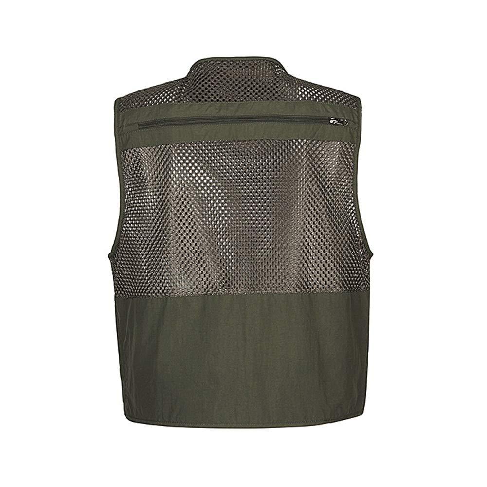 Breathable Multi-Tasche Rei/ßverschluss Netz Weste Angeln Vest f/ür Jagd Camping Fotografie Herren Outdoor Weste