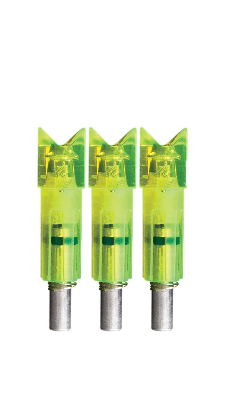 Lumenok Gold Tip Crescent Bolt End (3-Pack), Green