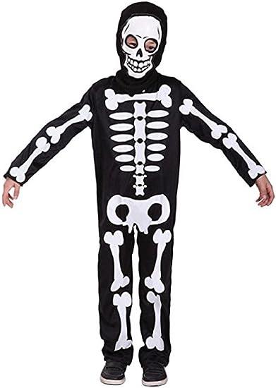 Scheletro Tuta Scheletro Costume Halloween Scheletro Costume ossa tuta M 140 cm
