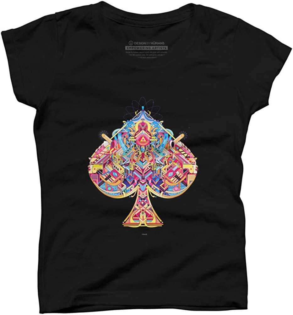 Design By Humans card Girls Youth Graphic T Shirt