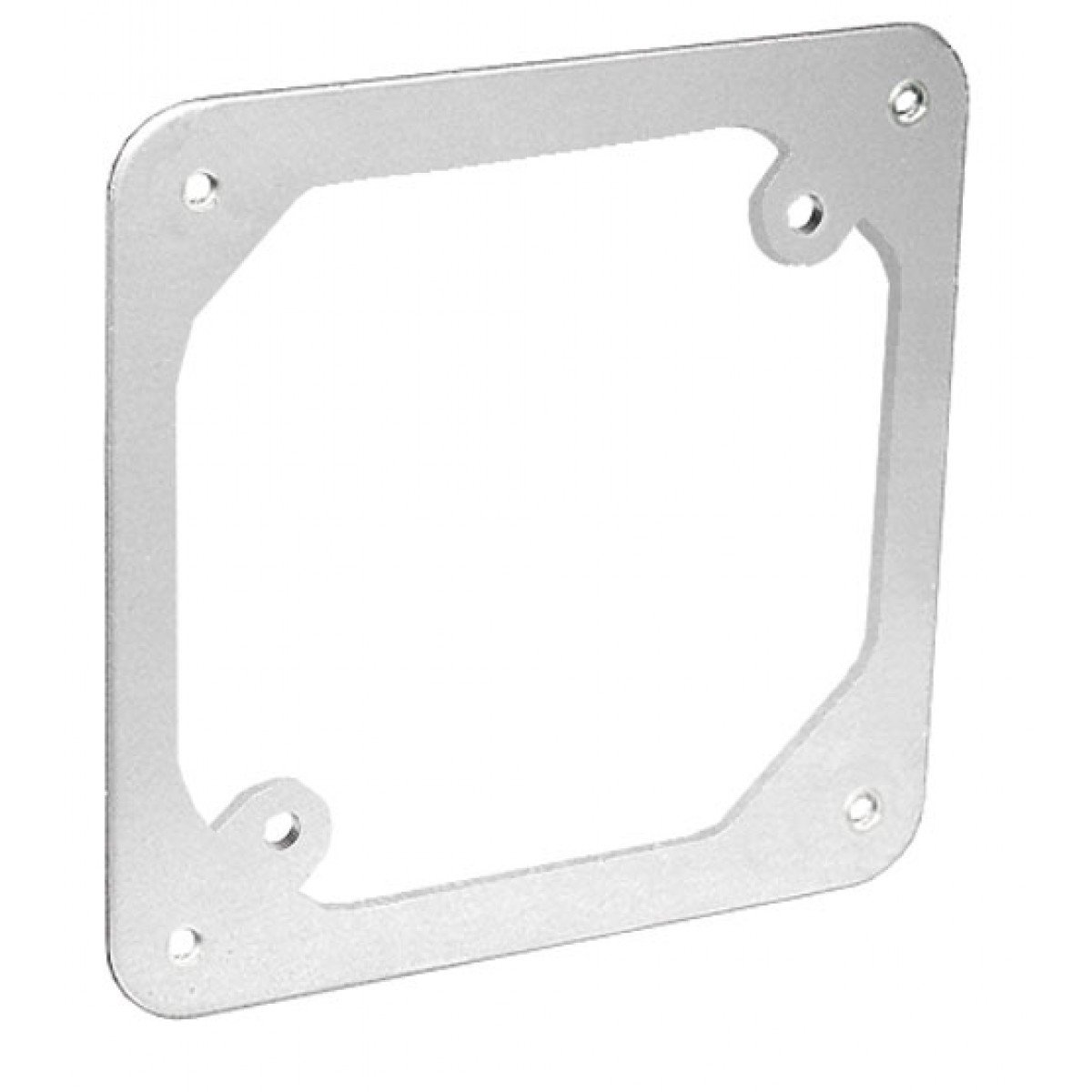 5 Pcs, Zinc Plated Steel 4 Square Cover w/Two 8-32 Mounting Holes, Adapts Octagon/Round Box to 4 Square Mounting Provisions