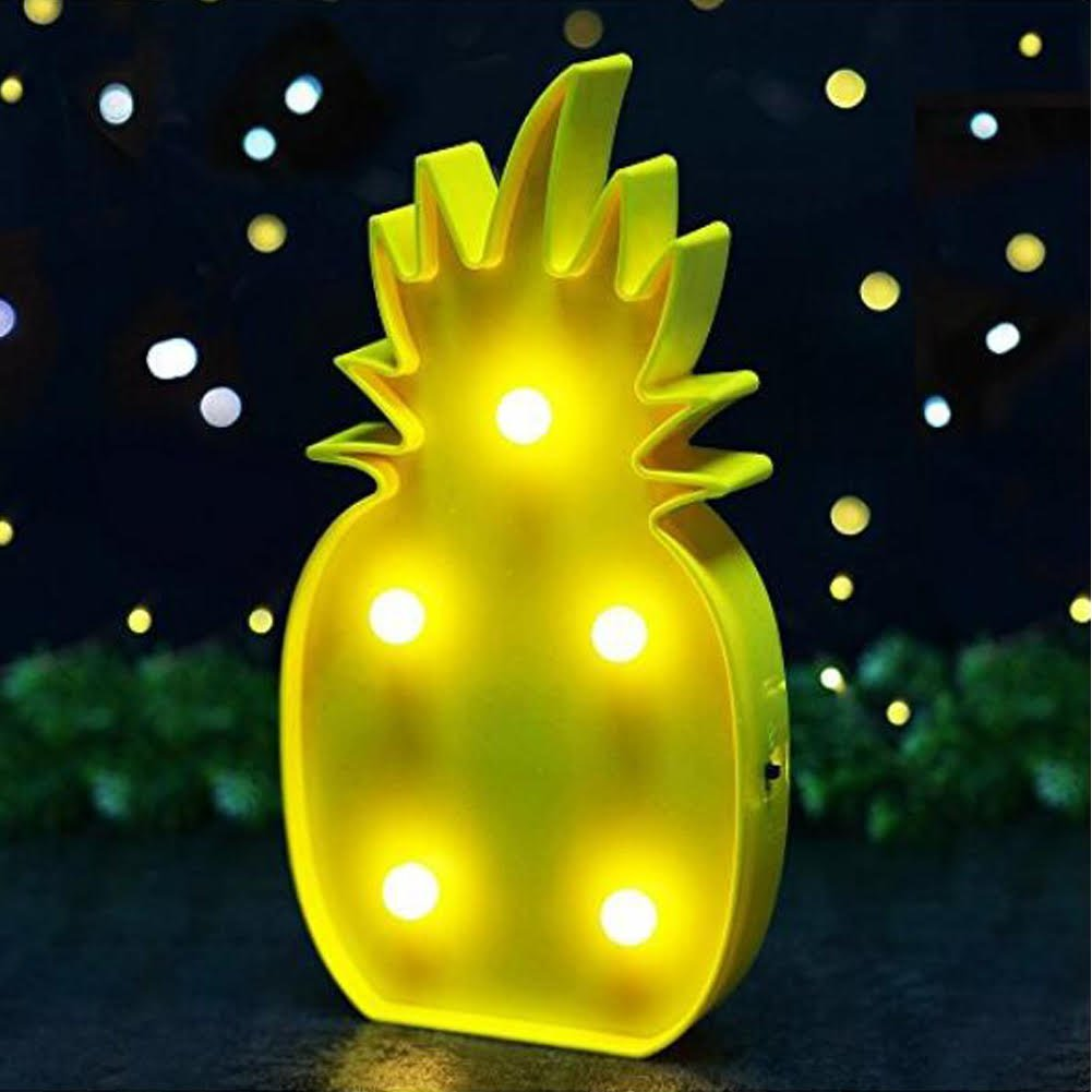 3D LED Light Pineapple Romantic Birthday Party Decoration for ...