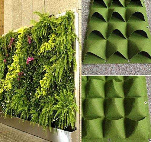 Herb Planter Bag - 4-49 Pockets Outdoor Indoor Wall Herbs Vertical Garden Hanging Planter Bag Green (8 Pockets)