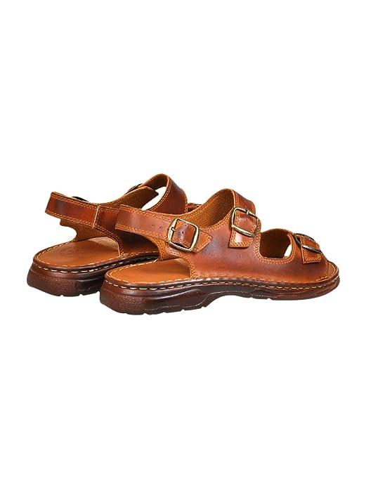 a23f402c Sandalias Cómodas Ortopédica Hombre Zapatos de Cuero Real Búfalo Modelo-816:  Amazon.es: Zapatos y complementos
