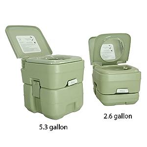 PARTYSAVING New 5.3 Gallon Travel Outdoor Camping Boat Portable Toilet Potty