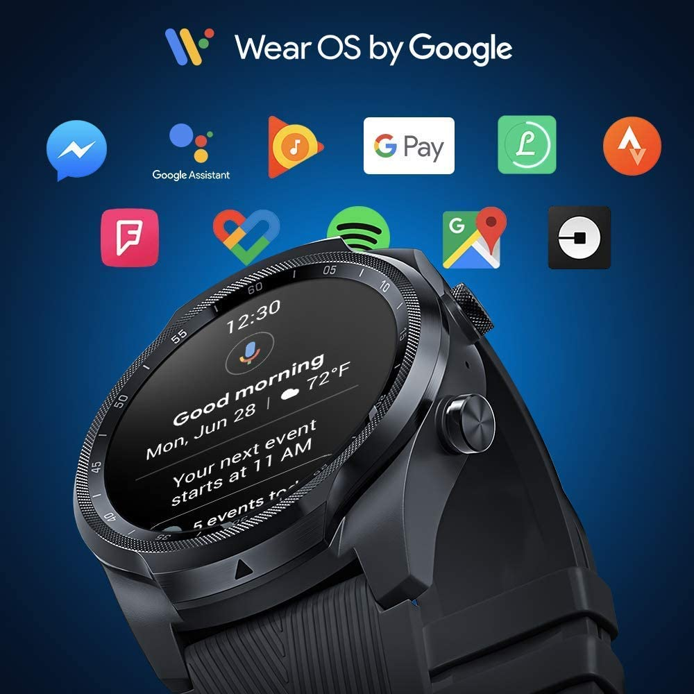 Wear Os Google - Ticwatch Pro 4G/LTE Montre connectée