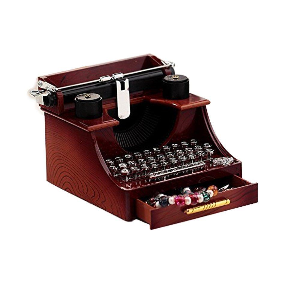 2019年秋冬新作 Vintageタイプライター音楽ボックスforホーム B01MY6TRWK/オフィス/勉強部屋飾りデコレーション B01MY6TRWK, FIT LIFE:b195ccb8 --- arcego.dominiotemporario.com