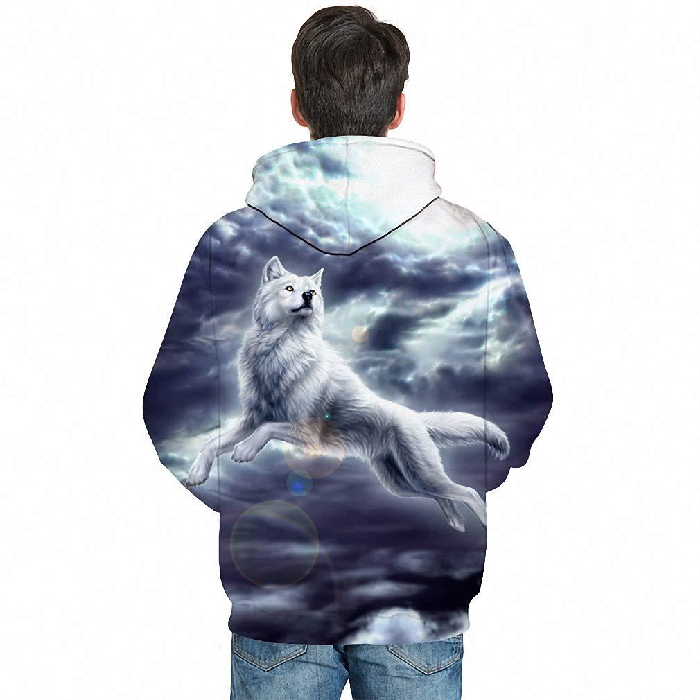 Wolf Printed Men 3D Sweathsirts Animal Hoodies Pullovers Unisex Tracksuit