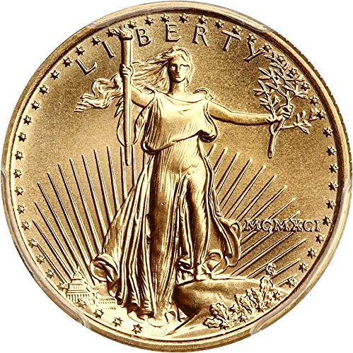 1991 P $10 Gold Eagles Gold Eagle Ten Dollar MS70 PCGS