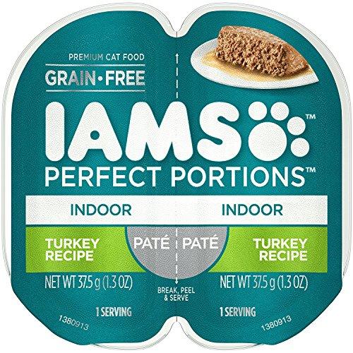 IAMS Grain-Free Perfect Portions Indoor Pate` Turkey Recipe (4-TRAYS = 8 INDIVIDUAL SERVINGS) (NET WT 1.3 OZ EACH)