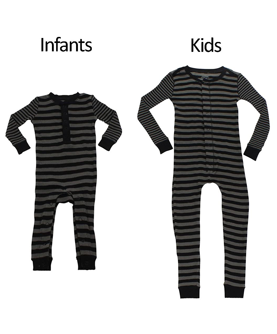 641584ac1 Sleepyheads Boys and Girls Thermal Union Suit Without Feet Black ...