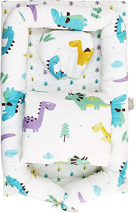 TEALP Tumbona para bebé, Nido de bebé, Nido Transpirable para recién Nacido, Edredón de bebé con algodón orgánico Supersoft, Dinosaurio: Amazon.es: Bebé