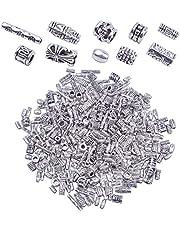 BronaGrand 100 جرام (حوالي 250-400 قطعة) خاتم فضي عتيق خرزات سوار ساحرة قلائد مجوهرات إكسسوارات للأساور والعقد لصنع المجوهرات