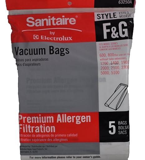Sanitaire Style F & G Premium Allergen Filtration Vacuum Bags, 5 Per Pack