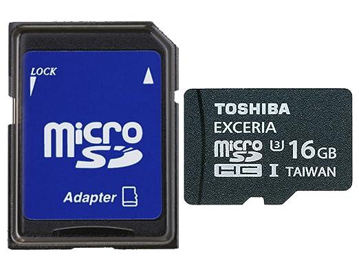 2 opinioni per Toshiba Scheda di Memoria MicroSDHC, 16GB, Exceria 95MB/s, UHS-I, U3, con