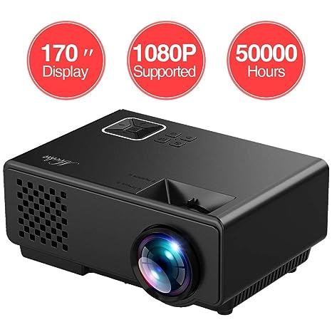 Amazon.com: Mokka - Mini proyector con pantalla de 170