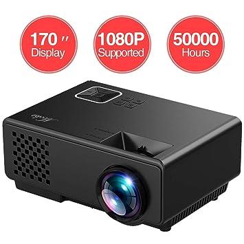 Mini proyector MOOKA, Full HD 1080P, proyector de vídeo Compatible ...