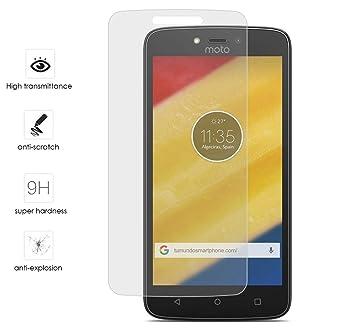 Tumundosmartphone Protector Cristal Templado para Motorola Moto C Plus Vidrio