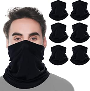 KERTIN Multi-Cool Neck Gaiter Summer Face Mask Reusable, UV Face Mask Protection Windproof Scarf for Sports&Outdoor Headband, Cooling Head Wrap for Men/Woman