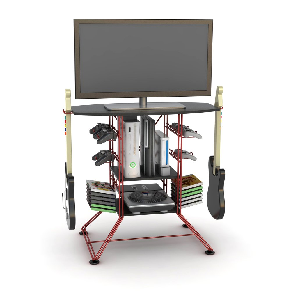 Atlantic Red Centipede Game Storage and 37'' TV Stand