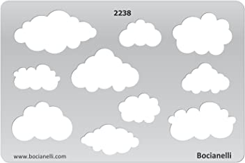 Plastic Stencil Template for Graphical Design Drawing Drafting Jewellery Making - Cloud Clouds Sky