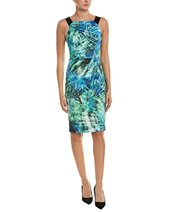 9da565eb8f4 Karen Millen Womens Sheath Dress, UK 14 / US 10, Blue at Amazon Women's  Clothing store: