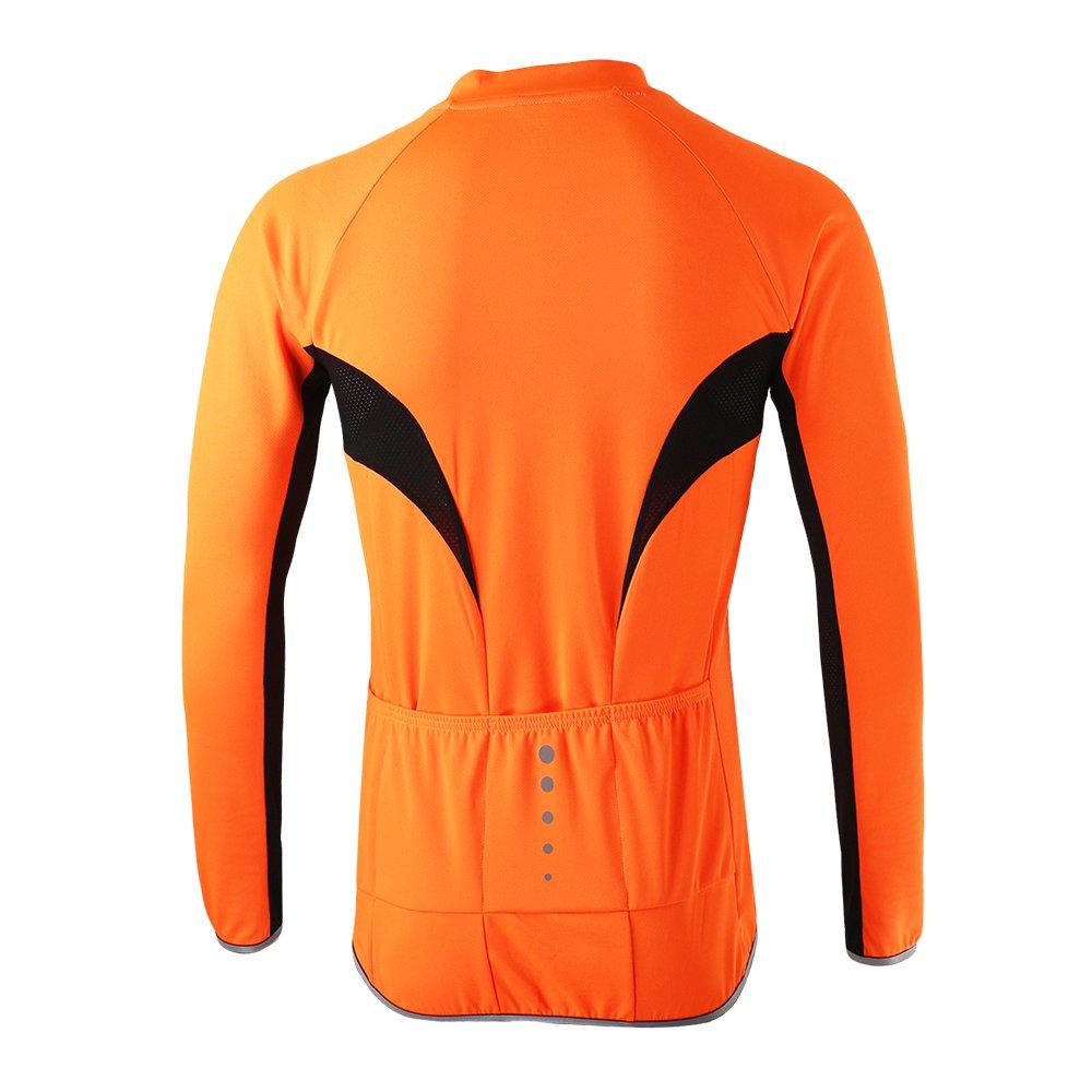 Lixada Arsuxeo Ciclismo Jersey Bicicleta Full Zip Manga Larga Camisa MTB Montar Ropa Jersey para Deportes Al Aire Libre: Amazon.es: Deportes y aire libre