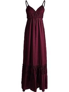a71c0672de8 Anna-Kaci Womens Adjustable Spaghetti Strap Sleeveless Long Lace Boho Dress