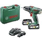 "Bosch Perceuse-visseuse ""Expert"" sans fil PSR 18 Li-2, coffret 2 batteries 18V 2,5 Ah, technologie Syneon 060397330H"