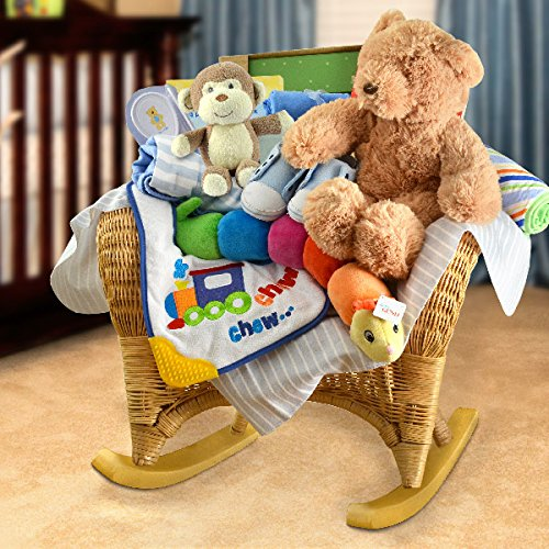 Ultimate Baby Rocker Baby Gift Basket- Boy