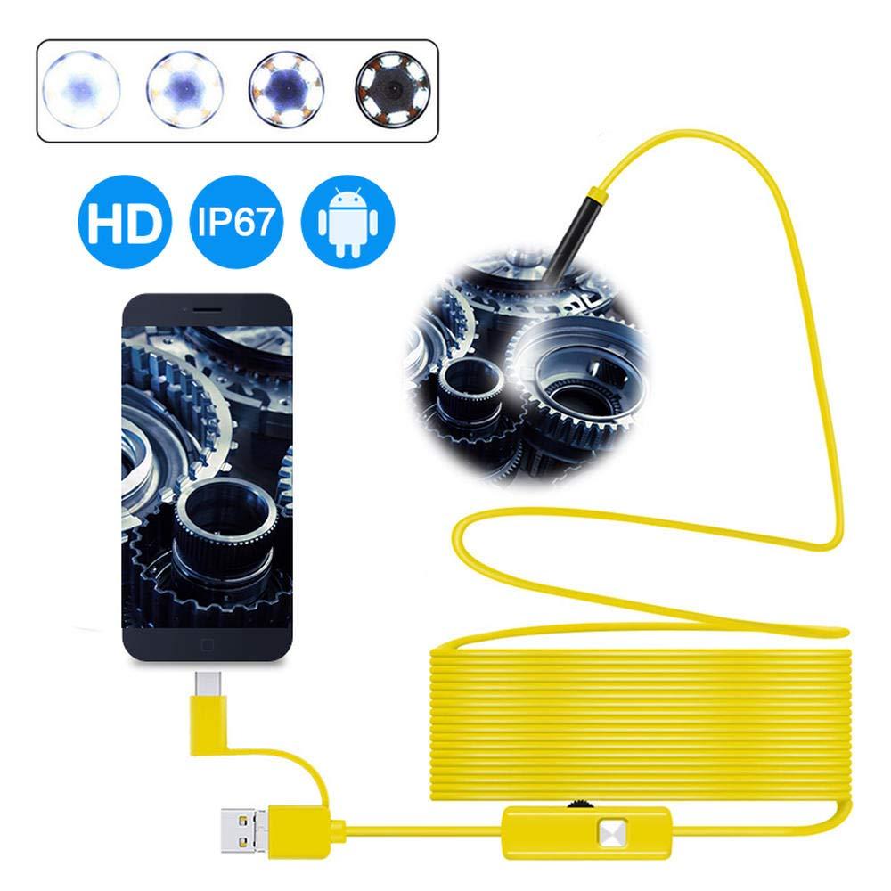 f/ür PC//Computer und OTG- und UVC-kompatiblen Android-Ph 0,3 Megapixel HD-Pipeline-Auto-Schlangeninspektionskamera DYWLQ USB-Endoskop 3 in 1 halbstarres Endoskop