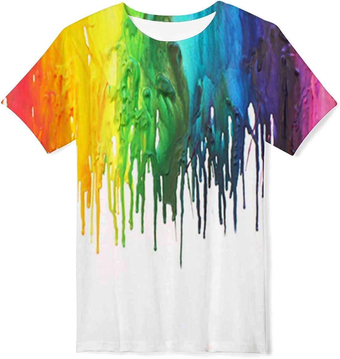 ALISISTER Camisetas Ni/ños 3D Divertidas Impresa Manga Corta Verano T-Shirt Top 4-14 A/ños