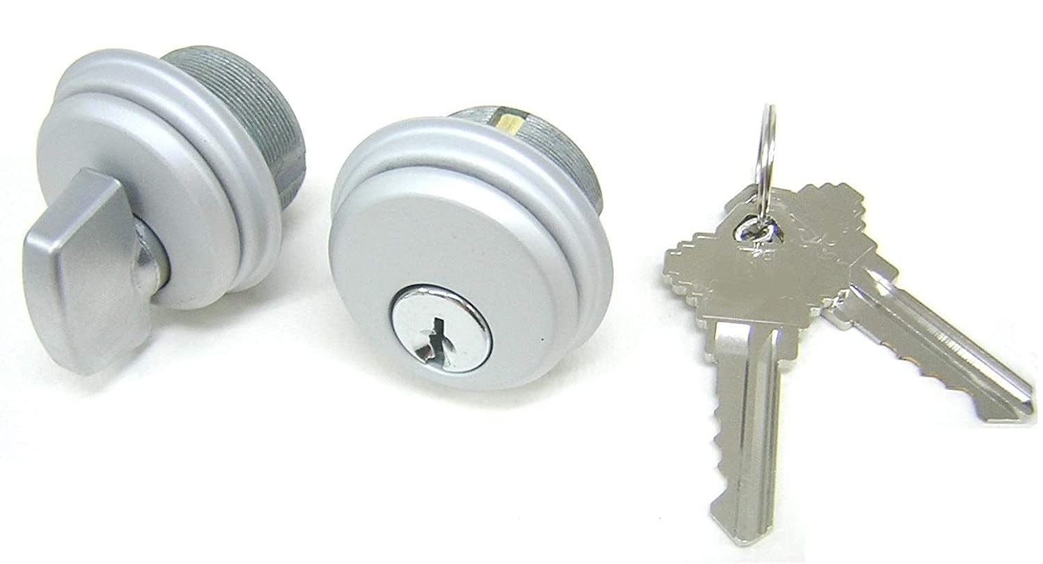 1 Set Adams Rite Style Cam McAvory Storefront Door Commercial Mortise Lock Cylinder /& Thumbturn in Aluminum