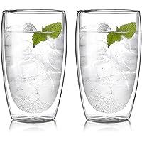 COLOCUP Termoglas med dubbla väggar, kaffemuggar, tekoppar, dricksglas för kalla eller varma drycker 0,45 l, 440 g, par