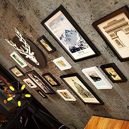 Ciervos cabeza foto reloj de pared foto digital marco pared industrial pared decorativa foto marco foto ...