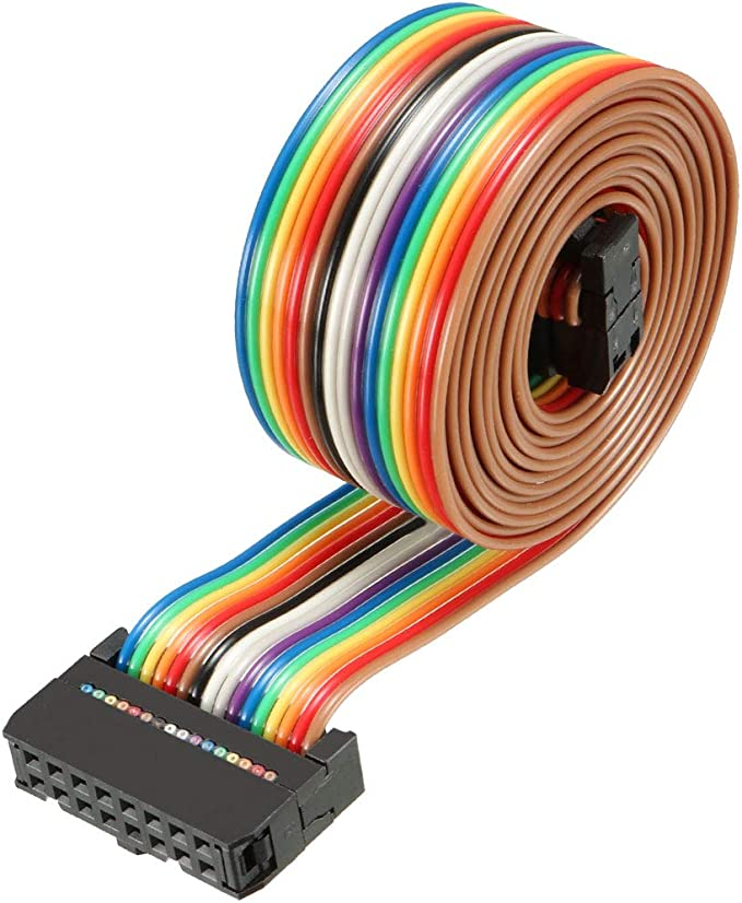 uxcell IDC Rainbow Wire Flat Ribbon Cable 40 Pins 66cm Length 2.54mm Pitch Type-C