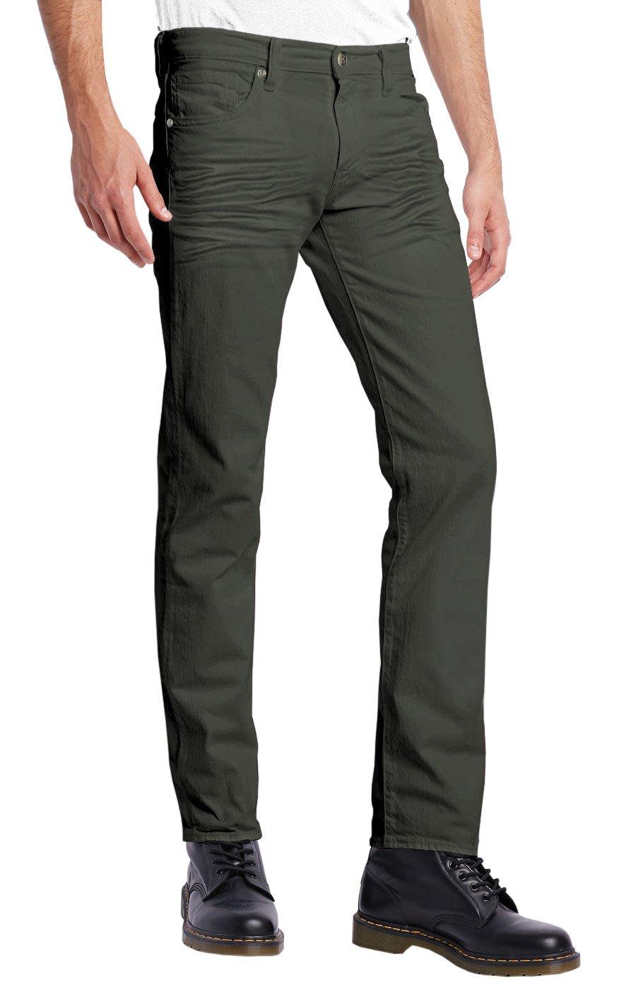 ETHANOL Mens Stretch Jeans-APL26123SK-PK16-OLIVE-32