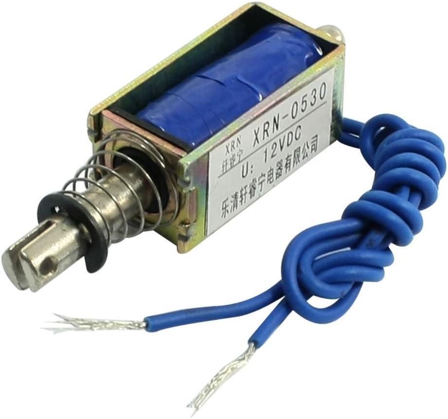 Push-pull Electro-aimant Sol/éno/ïde Cadre Ouvert Type Contr/ôle dautomatisation 6//12 12V 6V 24V DC 300mA DC Pull Electromagnet 5N R/étractable Port/ée 10mm